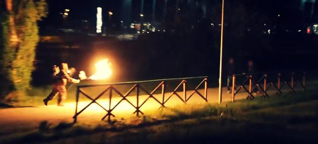 flame prank