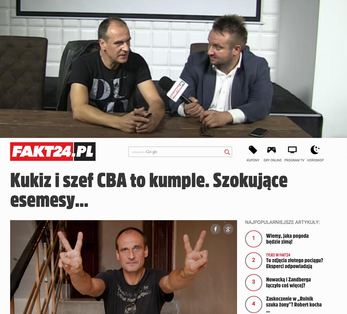 Paweł Kukiz kontra Fakt