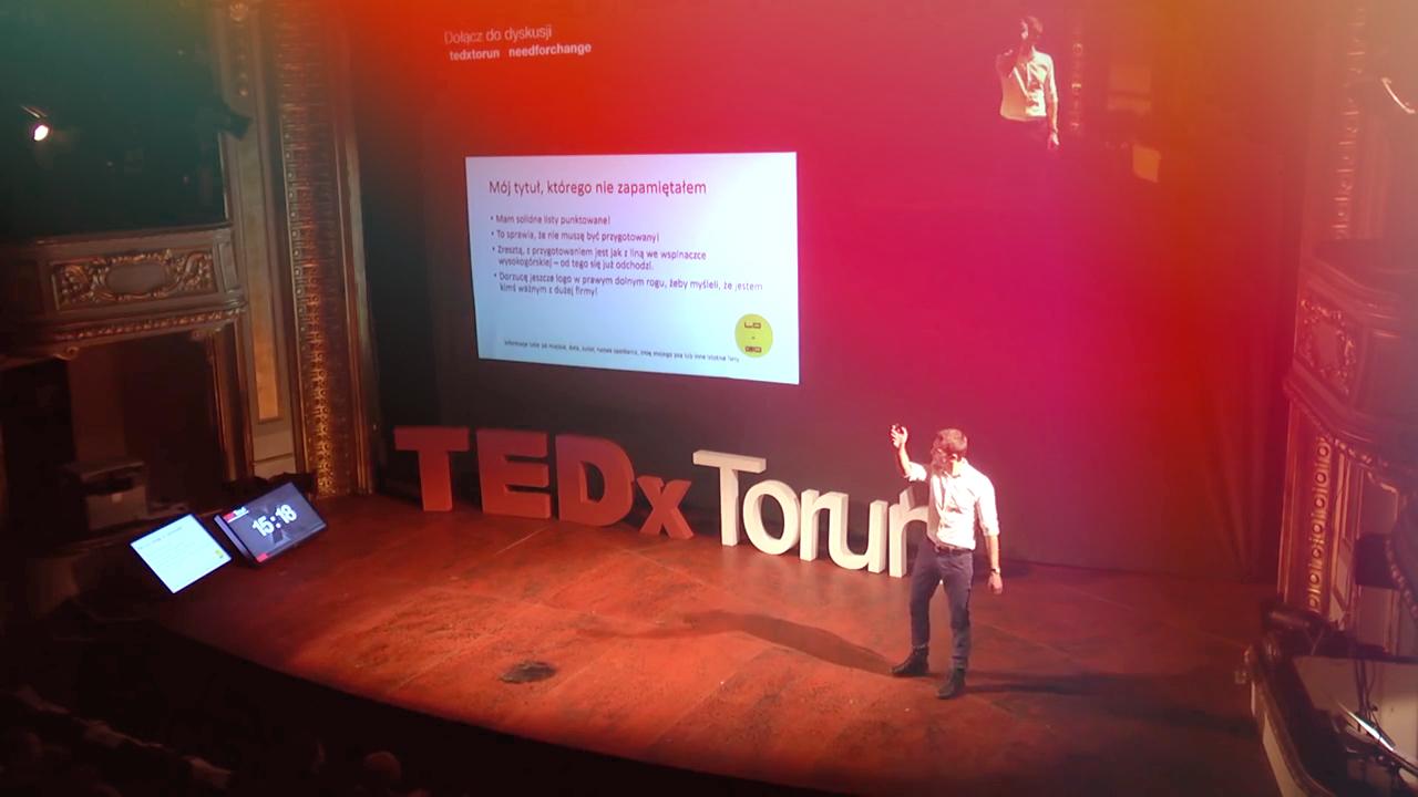 kamil koziel sztuka prezentacji tedx toruń
