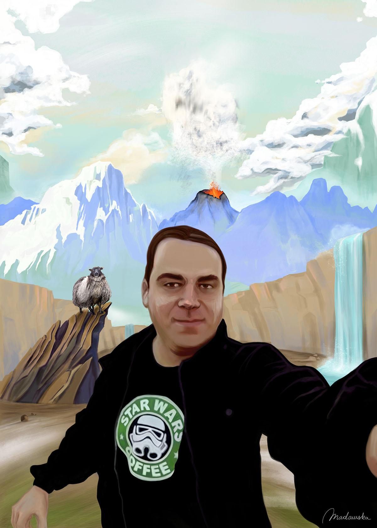mediafun selfie islandia