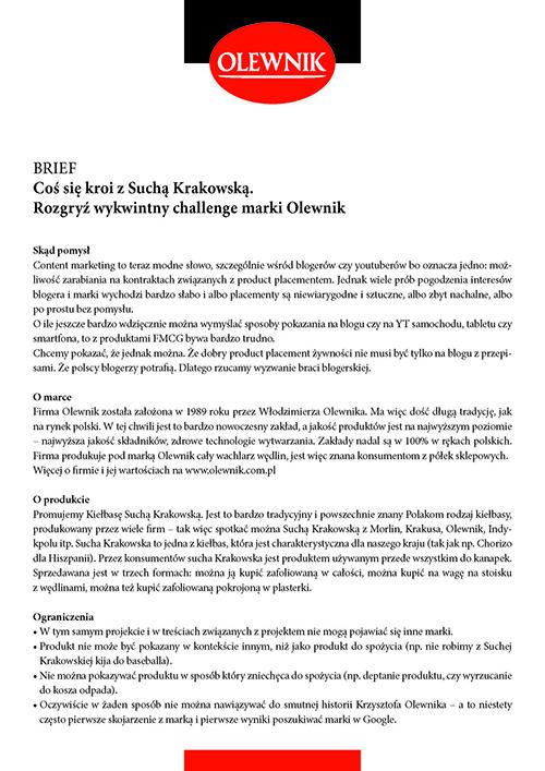 brief Olewnik Sucha Krakowska